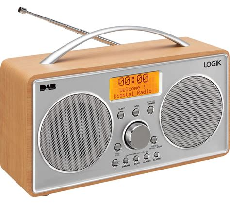 fm music station buy logik l55dab15 portable dab fm clock radio silver