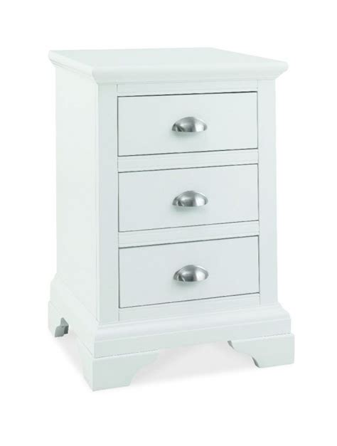 3 Drawer Nightstand White by Bentley Designs Hstead White 3 Drawer Nightstand