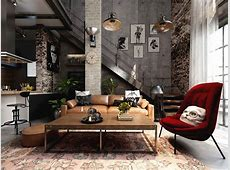 Rich Industrial Style Unites Jewel Colours with Exposed ... Industrial Style Home Decor
