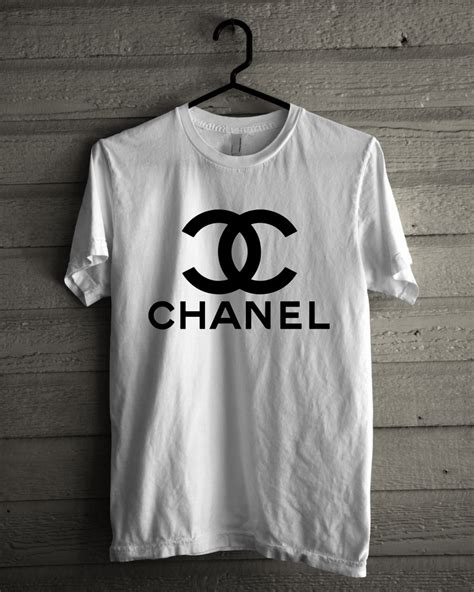 Kaos 3d Bw chanel logo high quality custom made black white t
