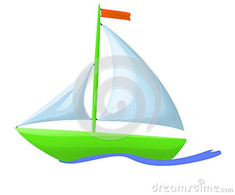 green boat cartoon illustration of green floating boat royalty free stock