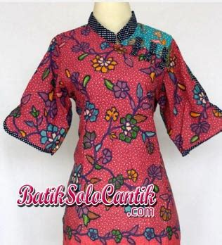 Intan Blouse by Batik Cantik Model Sanghai Batik Baju Kerja