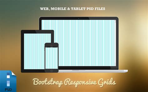 responsive bootstrap grid psd templates web tablet