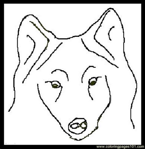 coloring page of a wolf s face free coloring pages of face of wolf