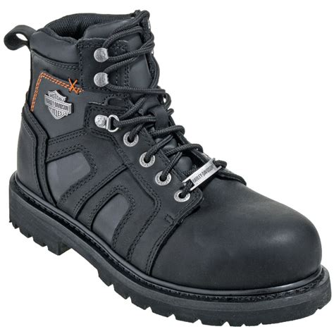 steel toe motorcycle boots harley davidson boots men s 95055 black steel toe eh met