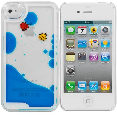 for apple iphone 4 4s 3d water fish tank liquid moving cover sea blue ebay