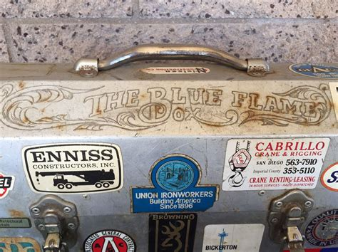 Harley Davidson Thermos by Vintage Industrial Metal Lunch Box With Thermos And