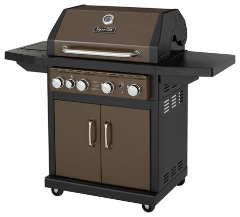 4 burner gas bbq grill with side burner and electronic pulse ignition modern outdoor grills