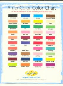 americolor color chart gel paste