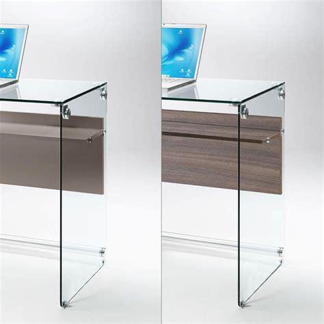 cuscino porta pc scriba scrivania in vetro trasparente ripiano in