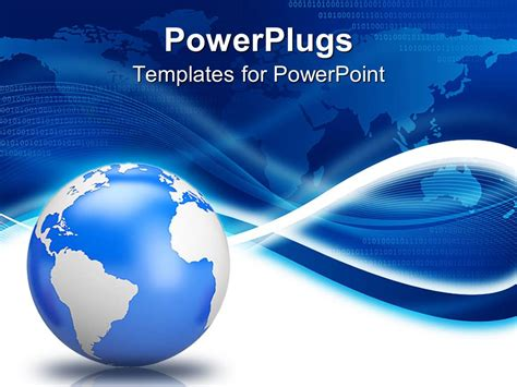 globe powerpoint template powerpoint template earth globe with blue world map