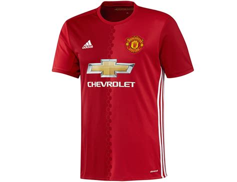 adidas manchester united home jersey 2016 2017 heren