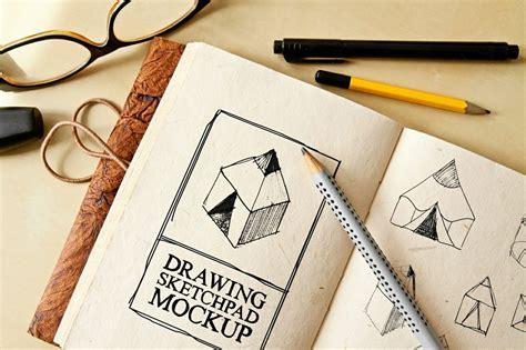 sketchbook mockup free free drawing sketch pad mockup graphic shelter sellfy