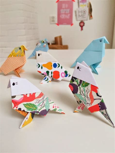 Paper Bird Crafts - origami birds crafts