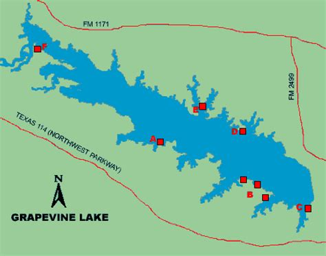 map grapevine texas grapevine lake access