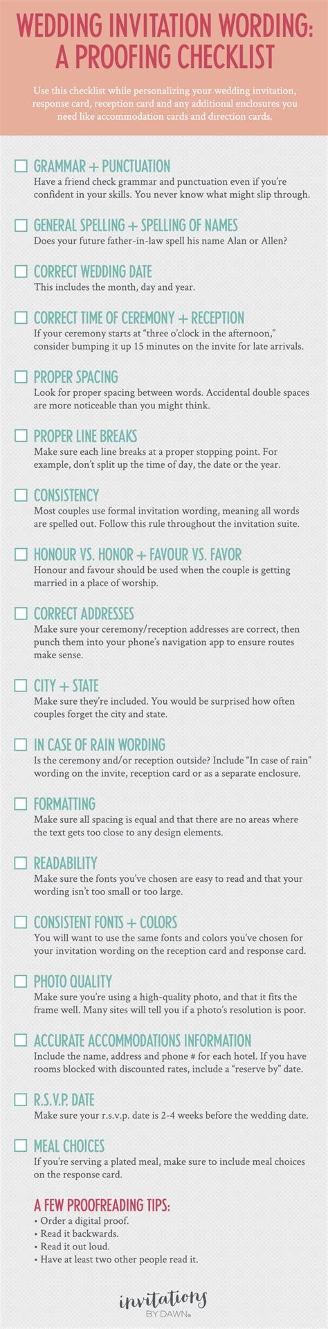 stationery checklist for a wedding a proofing checklist for wedding invitations invitations