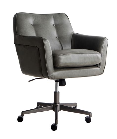 gray leather executive office chair admiral by gosit executive leather ergo chair w headrest