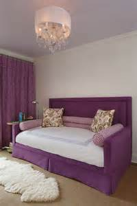purple daybed with headboard contemporary s room