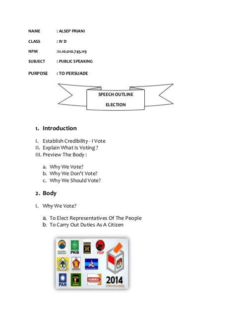 Introducing A Classmate Speech Outline by Speech Outline