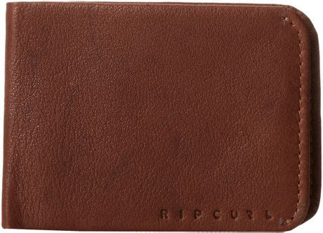 Ripcurl Detroit Black Brown Leather rip curl kangaroo slim leather wallet in brown for black lyst
