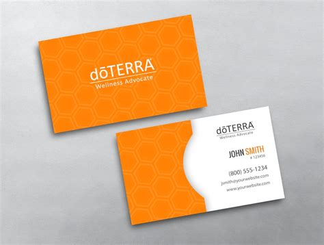 doterra business card template doterra business card 41