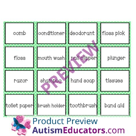 Bathrrom Iep Goals Functional Skills Bathroom Vocabulary