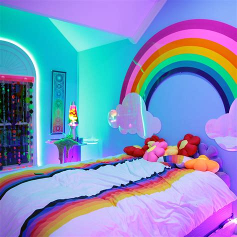 rainbow bedroom decor kidcore home pinterest room bedrooms and unicorns