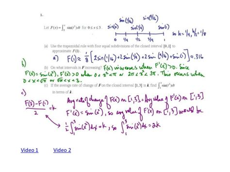 sle questions for calculus ab section 1 ap calculus rectangular and trapezoidal approximation frq