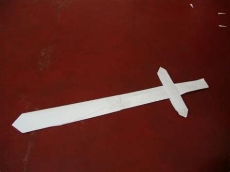 How To Make A Paper Sword - how to make a paper sword
