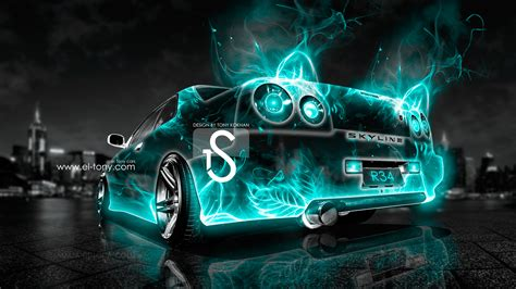 wallpaper abstract car nissan skyline r34 abstract car city 2013 el tony