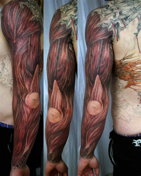 muscle tattoo designs 70 designs for exposed fiber ink ideas