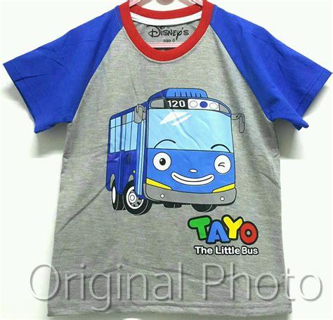 Setelan Anak Size 1 6 Tayo The Traffic Light Biru Muda kaos tayo raglan abu 1 6 grosir baju anak grosir eceran baju anak murah berkualitas