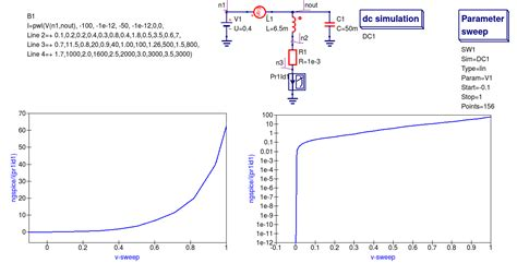 diode nonlinear resistance chapter 7 qucs and spice simulation models that work with ngspice xyce and spice opus qucs s