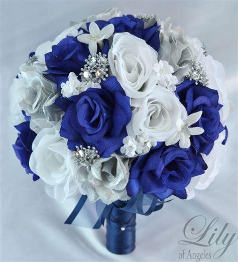 And Silver Wedding Flower Ideas by 17 Package Silk Flower Wedding Bridal Bouquet