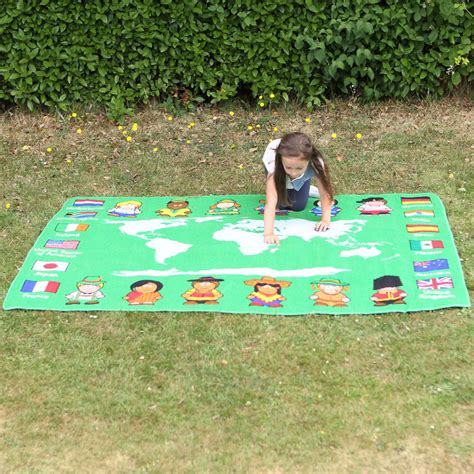 Outside Play Mats Toddlers by Children Of The World Map Outdoor Play Mat