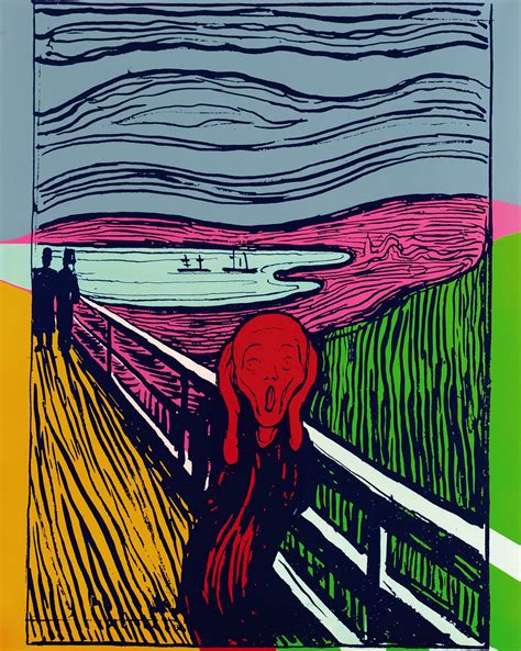 el grito de munch three unique and rare andy warhol s prints to be auctioned