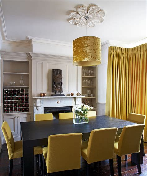 Yellow Dining Room Curtains Ideas Mixing In Some Mustard Yellow Ideas Inspiration