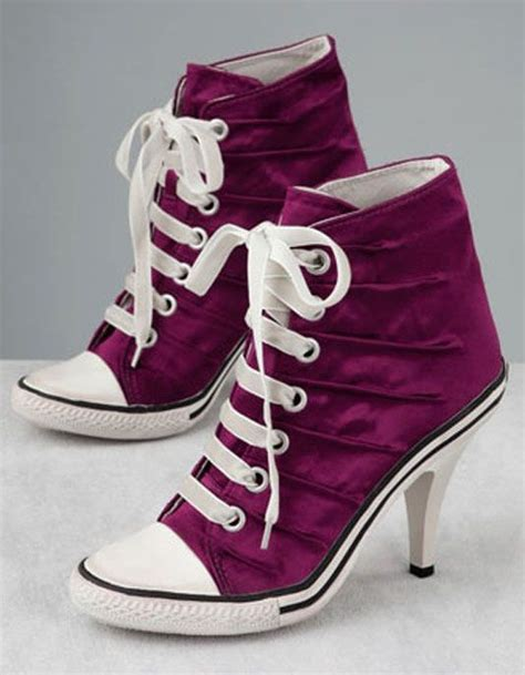 high heel sneakers converse converse high heels shoe be do be do