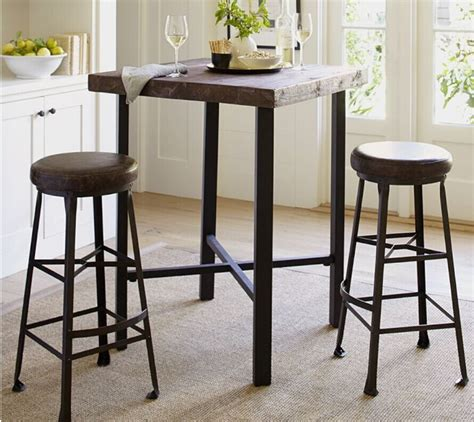 Small Bar Table And Chairs American Country Wrought Iron Wood Vintage Antique Coffee Bar Dinette Dinette Table And Chairs