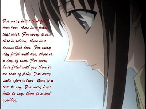 Anime Quotes Sad by Awesome Anime Sad Quotes Quotesgram