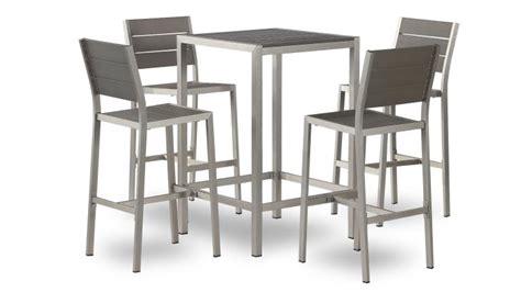 Table Et Chaises Hautes by Table Haute Dazzio En Alu Bross 233 Inoxydable Avec 4 Chaises