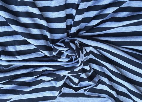 striped cotton knit fabric cotton blend stripe fabric jersey knit by the yard black