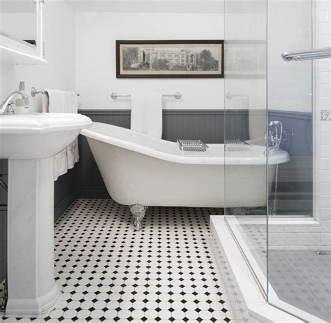 Bathroom Tile Ideas White Black And White Bathroom Gorgeous Inspirations