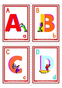abcd cards template alphabet flashcards uppercase alphabet aussie