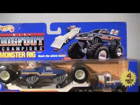 wheels bigfoot monster truck wheels mini bigfoot chions monster rig toy review