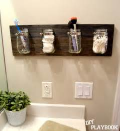 Bathroom Organizers Ideas diy playbook how to create a mason jar organizer