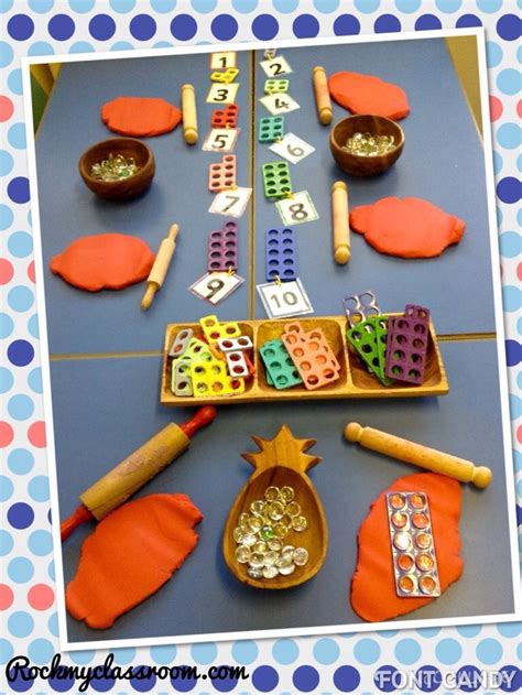 new year maths for eyfs numicon in playdough on rockmyclassroom parts
