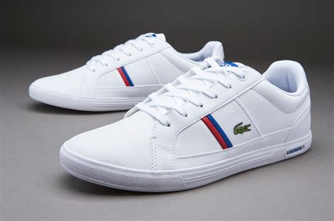 mens shoes lacoste europa white