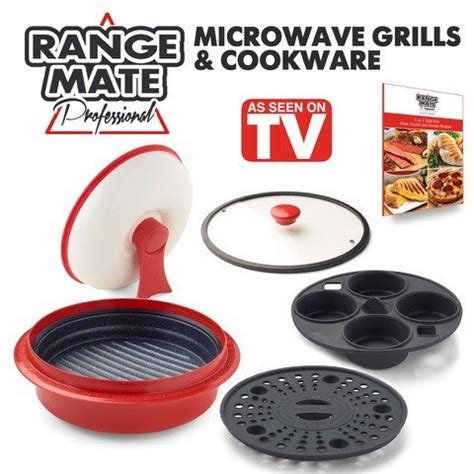 7 In 1 Kitchen Mate range mate pro deluxe nonstick microwave 5 in 1 grill pot pan import it all