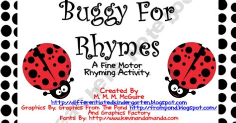 buggy for bugs cut outs grade pk 8 carson dellosa publishing buggy for rhyming a fine motor phonomic activity free
